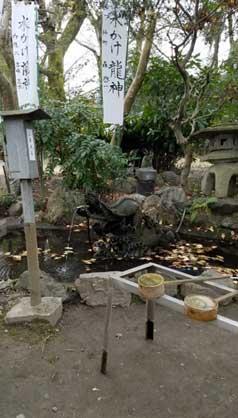 白金龍王社ンボルの水掛龍神